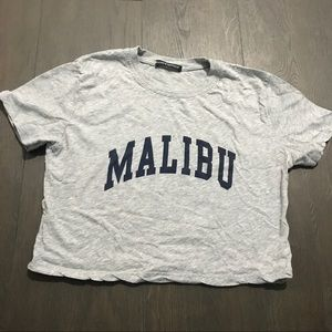Brandy Melville Grey Malibu Crop Top